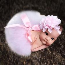 Baby Girls diadema flor + Tutu falda de ropa foto prop disfraz encantador