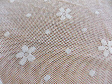 HERITAGE LACE WHITE FLOWER FABRIC BULK BY THE YARD CUSTOMIZE YOUR HOME #6032