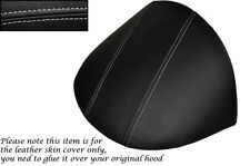 GREY STITCH FITS MG MGF MG TF 1995-2005 DASH COWL HOOD LEATHER SKIN COVER ONLY