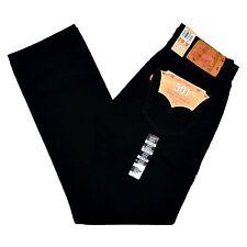 Levi's Black Mens US Size 36x32 Classic Straight Leg Denim Jeans 171