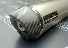 Yamaha XJR 1300 99-03 Pair of Titanium Round, Carbon Outlet Exhausts,Silencers.