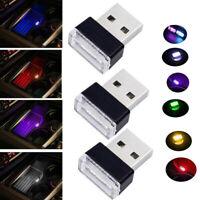 1PC Flexible Mini USB LED Light Colorful Lamp For Car Atmosphere Lamp Bright