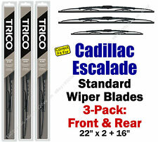 Wiper Blades 3pk Front Rear Standard fit 2002-2006 Cadillac Escalade 30221x2/160