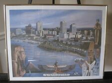 "LOUISE DUNAVANT, SIGNED LIMITED EDITION 2158/7777 PRINT ""MEMPHIS ON THE RIVER"""