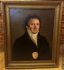 19 JHD.Qualitätsvolles  Biedermeier Portrait eines jungen Herrn Öl LWD.