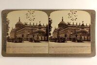 Germania Potsdam Residenza Dei Imperatori 1903 Foto Stereo Vintage Albumina