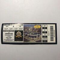 MLB Baseball Pittsburgh Pirates Vs Cincinnati Reds Ticket Stub Vintage Sep 2001