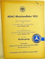 11. Oktober 1953 ADAC Rheinlandfahrt 500 km Nürburgring PROGRAMMHEFT VII04 å *