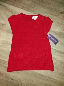 NWT Cherokee Infant Girls Sweater Dress Size 3-6 Months Red