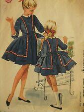 Sassy VTG 62 McCALLS 6456 Girls Seam Interest Dress w Petticoat PATTERN 8/26B