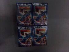 Lot of 4 Babylon 5 Premier Ed Collectible Card Game Narn-Centauri-Earth-Minba ri