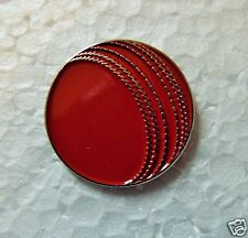 Cricket Ball motorcycle enamel pin / lapel badge