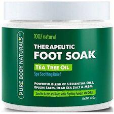 Tea Tree Oil Foot Soak 100% Natural with Epsom and Dead Sea Salts, Foot Fungus