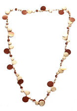 LADIES SHEBA NECKLACE, GOLD COIN-LIKE NECKLACE BRONZE PLATELETS (ZX54)