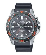 Mens Casio MTD1080-8AV Black Rubber Gray Dial Illuminator Nightlight Watch
