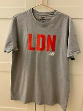 NEW BALANCE Men's T-shirt in grey LND text on size XL