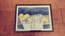 """watercolor still life ,original 10x13""""unframed"""