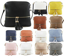 Ladies Cross Body Messenger Bag Womens Shoulder Over Bags Organiser Handbags NEW