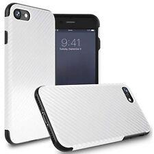 Anti-allergy Carbon Fiber Glitter PU Leather TPU Case Cover for iPhone 7/6s Plus