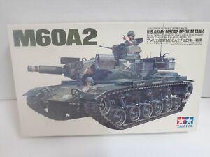 38-10 TAMIYA 1:35 M60A2 US ARMY MEDIUM TANK MODEL KIT NEW WITH OPEN BOX