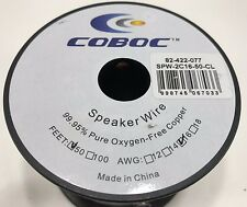 Coboc SPW-2C16-50-CL 50ft 16AWG 2-Conductor Oxygen-Free Copper OFC Speaker Wire