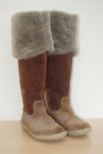 NEW Knee High Suede Boots Size EUR 39 UK 6 Faux Fur