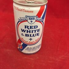 Vintage Pabst Red, White, & Blue empty beer can, pop tab, 12 oz