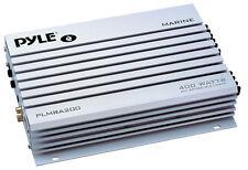 New Pyle PLMRA200 2 Channel 400 Watt Bridgeable Waterproof Marine Amplifier