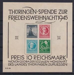 SBZ Block 2 x Thüringer Weihnachtsblock postfrisch (ht85)