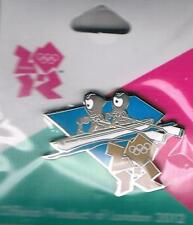 2012 London Wenlock Olympic Canoe Sprints Games Mark Mascot Sports Pin