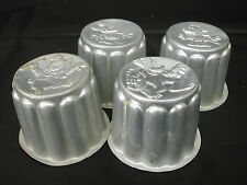 * 4 ANCIENS MOULES A GATEAU DISNEY MADE IN ENGLAND PURE ALUMINUM 6.5 cm Ø MICKEY