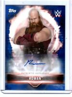 WWE Rowan 2019 Topps Road To WrestleMania Blue Autograph Card SN 25 of 50