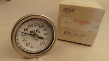"Weston Adjustable Angle Thermometer 0-220 °F 1/2"" NPT, 2.5"" Stem mdl 4304  NEW"