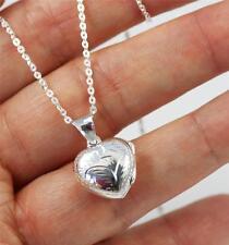 """925 argento Sterling medio a Cupola CUORE BOX / CIONDOLO / pendente collana 18 """" + SCATOLA"""