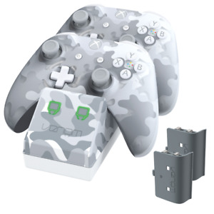 Venom Xbox One Twin Charging Dock with 2 Rechargeable Battery Packs Arctic Camo