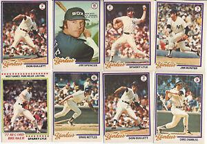 1977 78 79 O-Pee-Chee NewYork Yankees Rivers Chambliss Nettles Dent Lot of 27