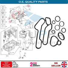 OIL COOLER GASKET SET FOR VAUXHALL OPEL MERIVA 2003-2010 ASTRA CORSA 5650834