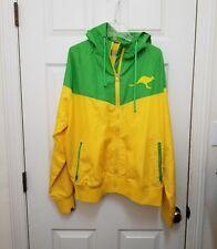 Go Aussie Mens Dynamo Australia Hooded Jacket Running Football Soccer Size Large