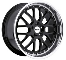 17x8 TSW Valencia 5x100 Rims +32 Black Wheels New Set (4)