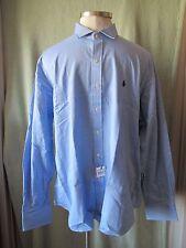 """Mens Ralph Lauren Blue LS Dress Shirt NWT $98 XXL Soft LtWt Woven Cotton 37"""" SL"""