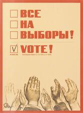 Everybody Vote! Russian Propaganda Poster Postcards_Все на выборы Набор открыток