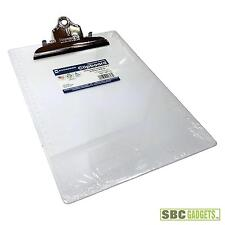 Saunders Plastic Clipboard w/High Capacity Clip, Clear, Letter Size, 8.5 (21803)