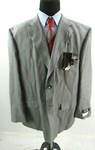 Blacker Performance Grey Mark Wool Suit Jacket Sport Coat Mens 56R 56 NEW