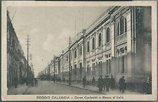 REGGIO CALABRIA CORSO GARIBALDI BANCA D'ITALIA cartolina animata non viaggiata