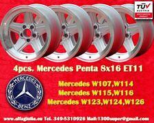 4 Cerchi AMG Mercedes Penta Style 8x16 ET11 Wheels Felgen Llantas Jantes mit TÜV
