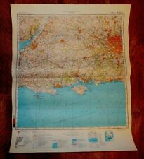 Authentic Soviet Russian Military Topographic Map LONDON, UK 1:500 000 1985