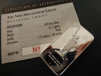 1 TROY OUNCE SILVER INGOT, MILLENNIUM GROUP STATUE OF LIBERTY 5 Available