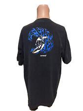 Vintage Men's CARMEL Surfing Black & Blue Shirt Size XL