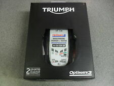 TRIUMPH OPTIMATE 3 BATTERY CHARGER UK MODEL - GREAT GIFT FOR TRIUMPH ENTHUSIAST