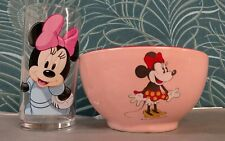 1 Bol + 1 Verre Disney Minnie Mousse